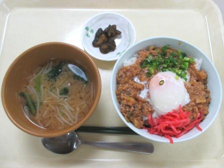 仙台 宮城県庁食堂 日替わり肉みそそぼろ丼